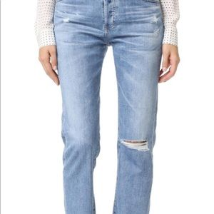 AG Tomboy Ripped Distressed Jeans